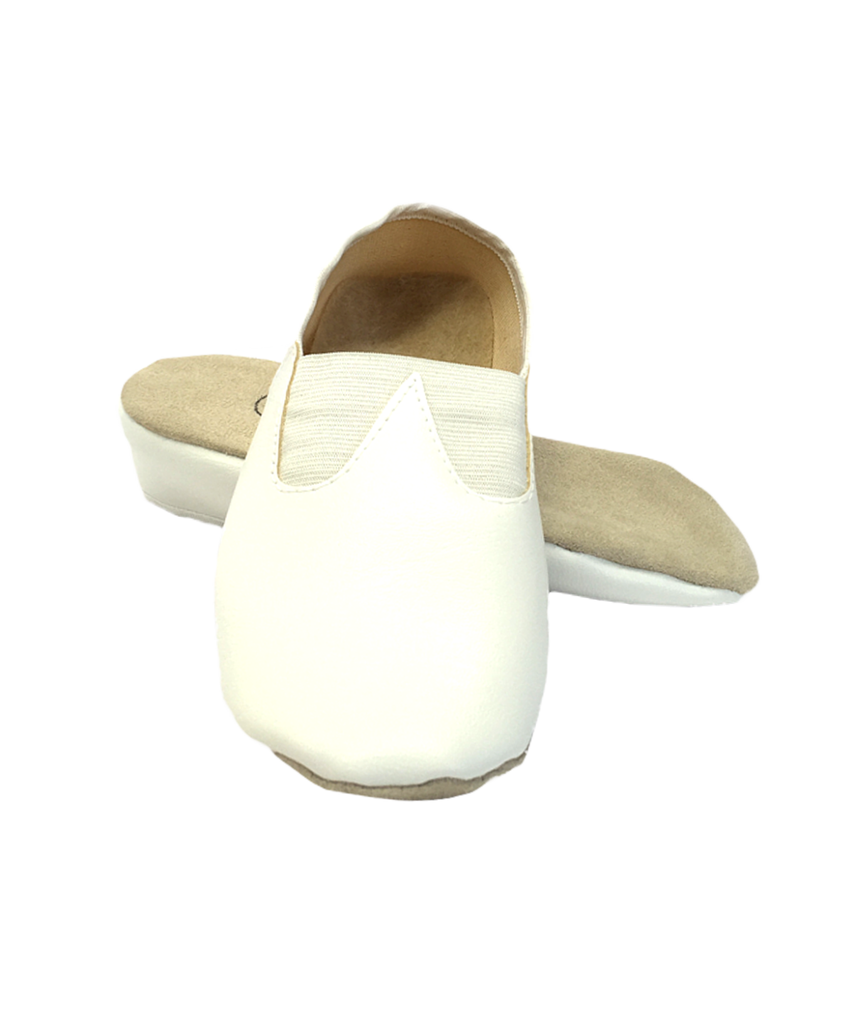 Чешки классические кожзам  2833: белый - 1