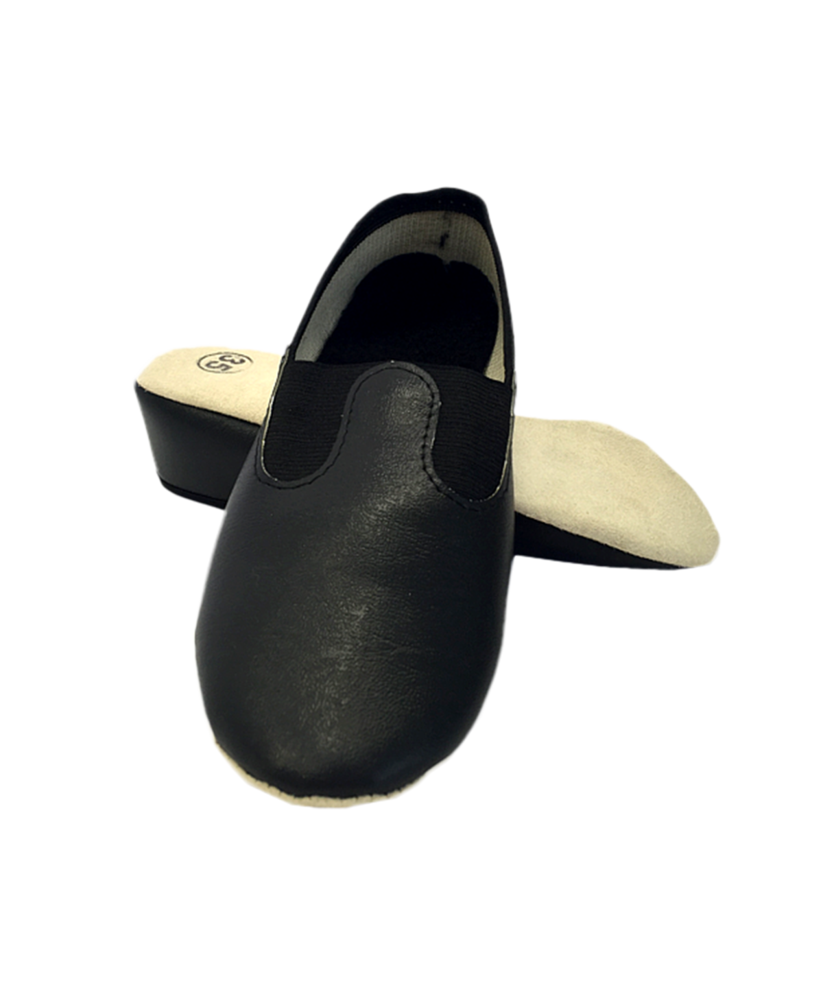Чешки классические кожзам  2833: чёрный - 1