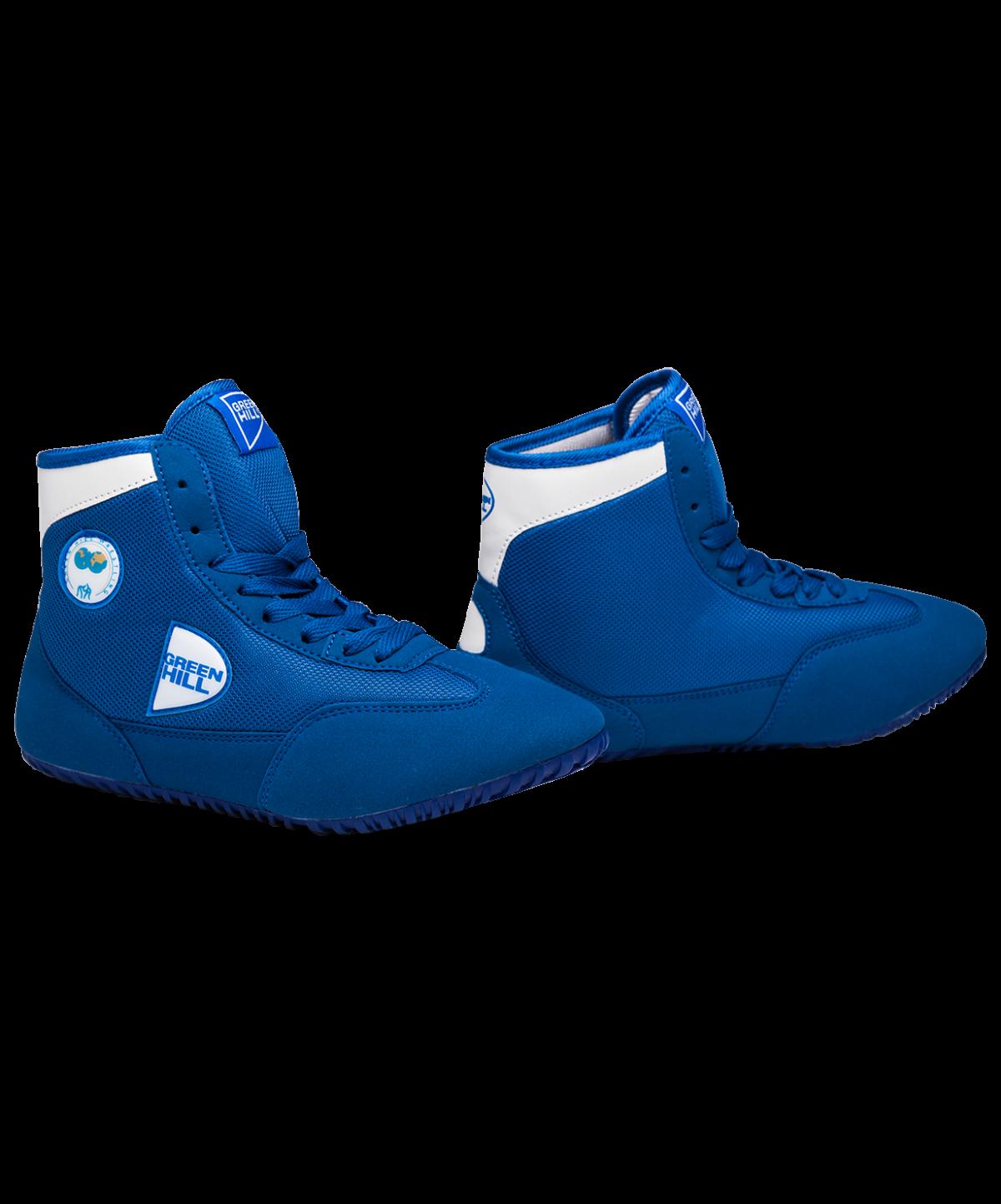 GREEN HILL Обувь для борьбы  GWB-3052/GWB-3055: синий/белый - 1