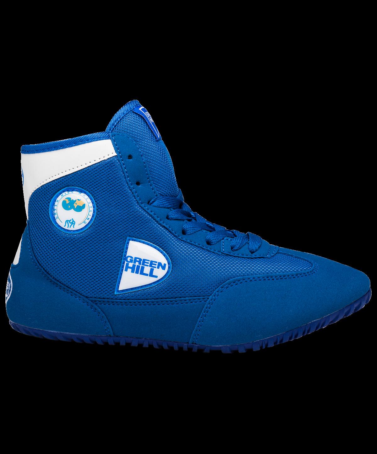 GREEN HILL Обувь для борьбы  GWB-3052/GWB-3055: синий/белый - 3