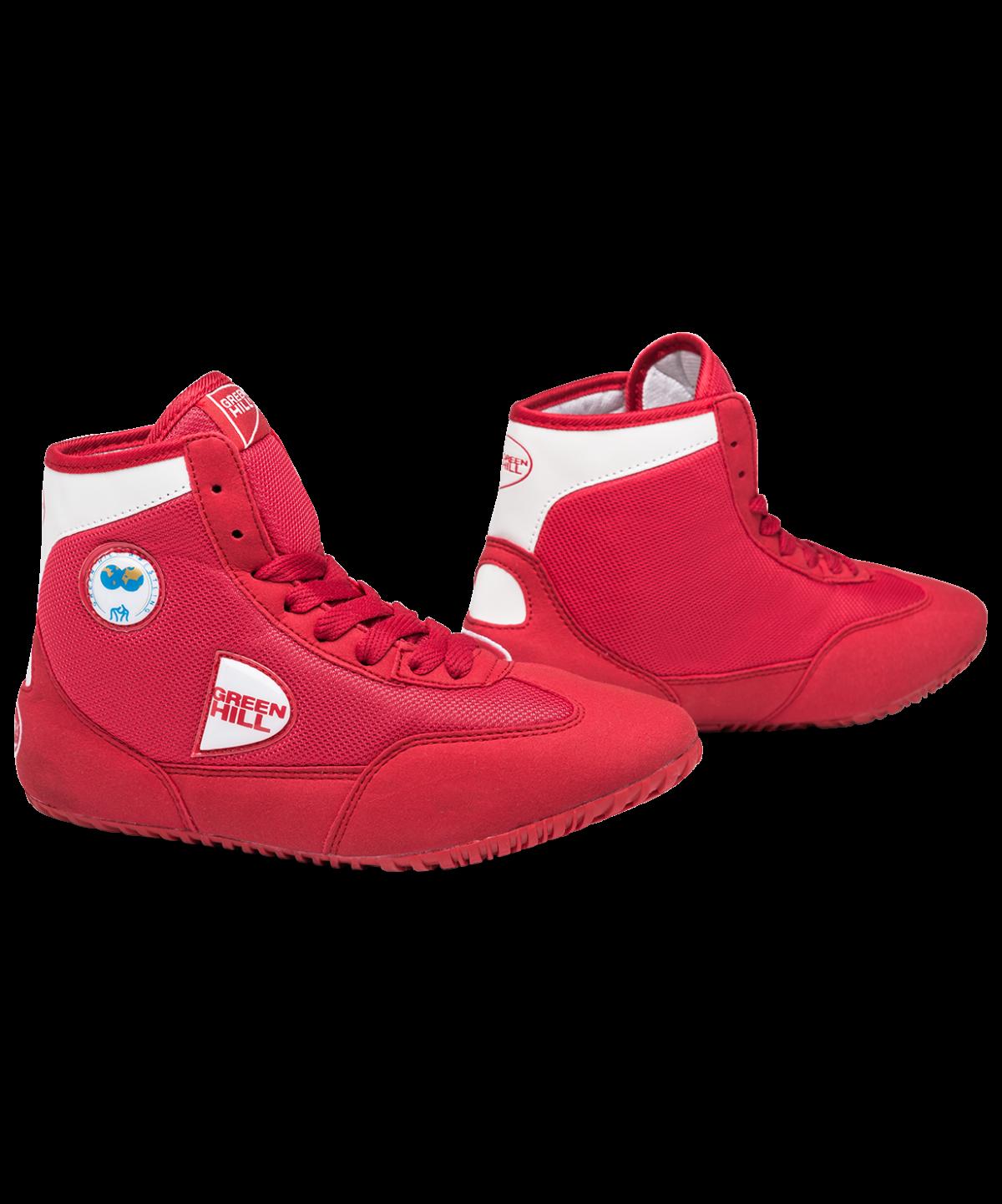 GREEN HILL Обувь для борьбы  GWB-3052/GWB-3055: красный/белый - 1