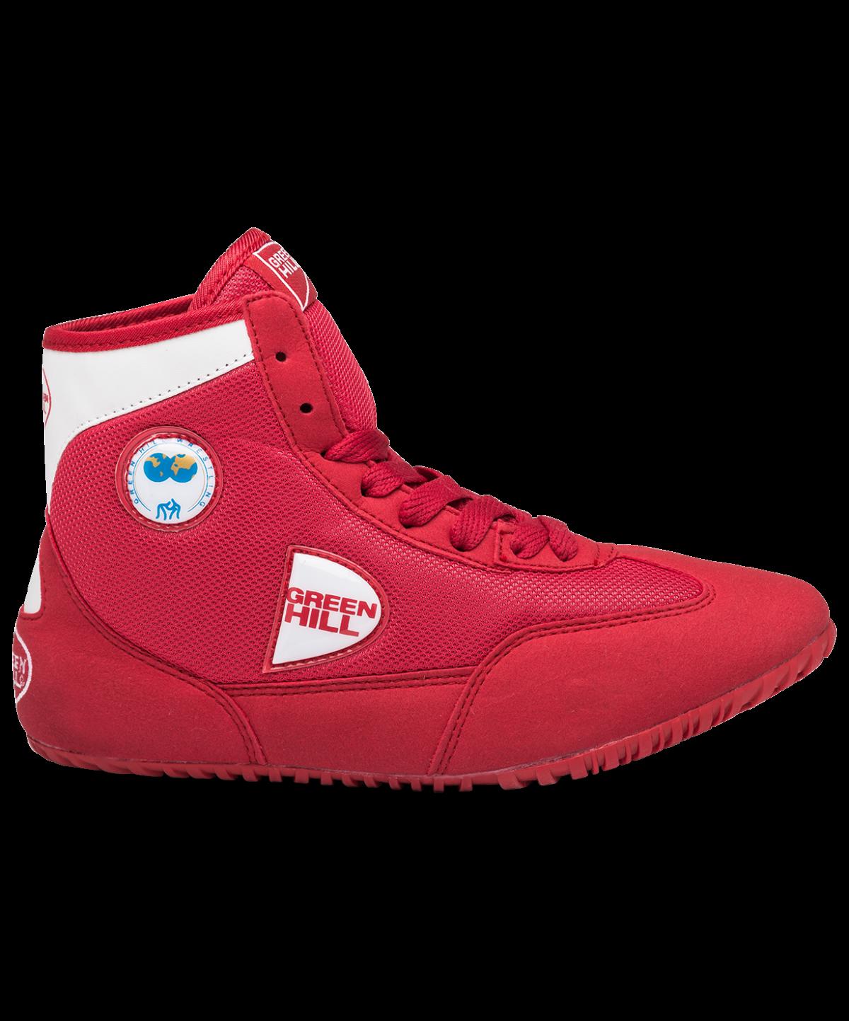 GREEN HILL Обувь для борьбы  GWB-3052/GWB-3055: красный/белый - 3