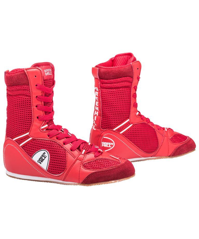 GREEN HILL Боксерки высокие  PS005: красный - 1