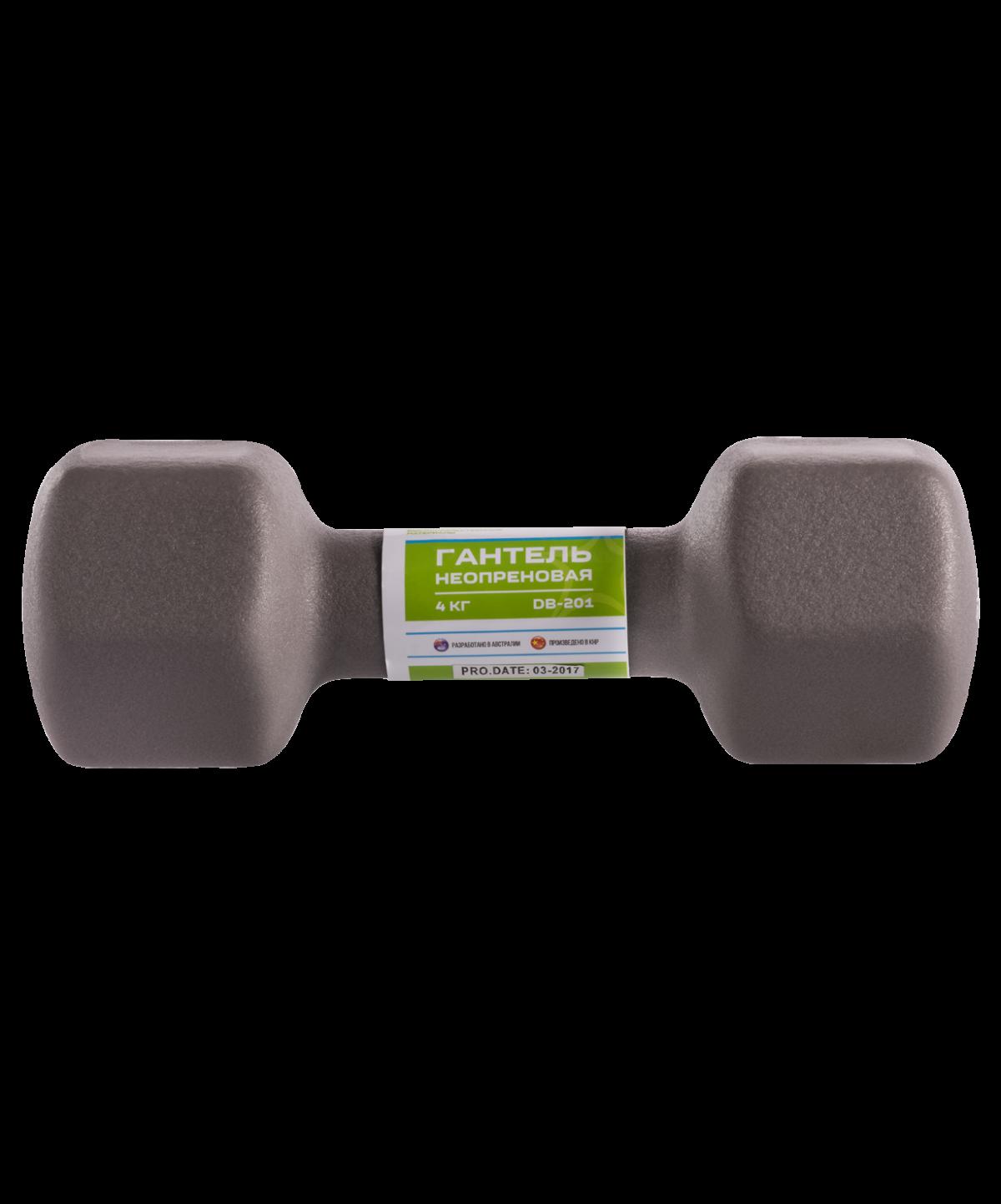 STARFIT Гантель неопреновая 4 кг, серая  DB-201 - 2