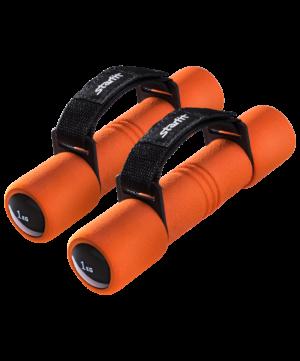 STARFIT Гантель неопреновая, 1 кг, оранжевая, пара DB-203 - 7