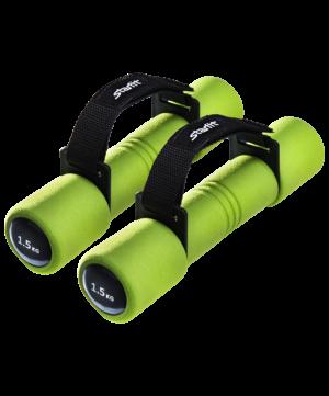 STARFIT Гантель неопреновая, 1,5 кг, зеленая, пара DB-203 - 8
