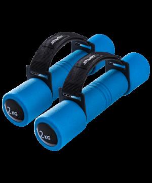 STARFIT Гантель неопреновая, 2 кг, синяя, пара DB-203 - 7