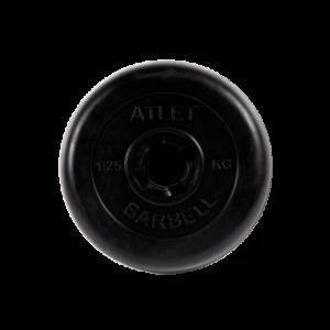 BARBELL Диск обрезиненный 1,25 кг, 26мм. Atlet MB-AtletB-1,25 - 10