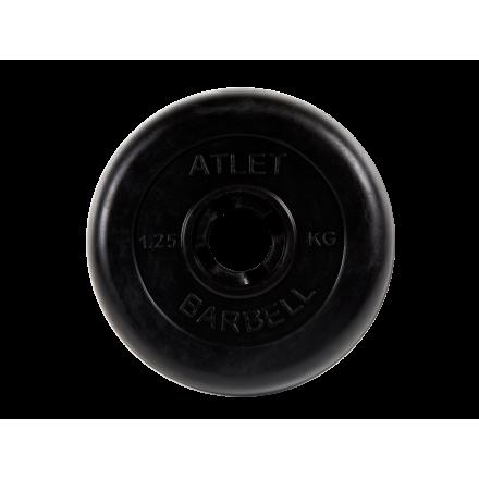 BARBELL Диск обрезиненный 1,25 кг, 26мм. Atlet MB-AtletB-1,25 - 1