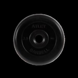 BARBELL Диск обрезиненный 2,5 кг, 26мм. Atlet MB-AtletB-2,5 - 4