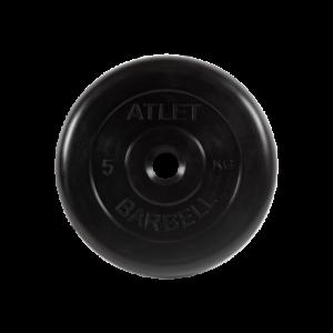 BARBELL Диск обрезиненный 5 кг, 26мм. Atlet MB-AtletB-5 - 9