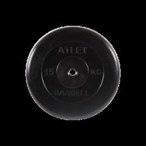 BARBELL Диск обрезиненный 15 кг, 26мм. Atlet MB-AtletB-15 - 16