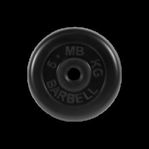 BARBELL Диск обрезиненный 5 кг,26мм. MB-PltB-5 - 4