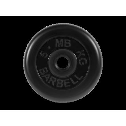 BARBELL Диск обрезиненный 5 кг,26мм. MB-PltB-5 - 1