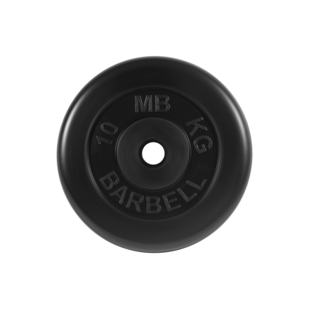 BARBELL Диск обрезиненный 10 кг,26мм. MB-PltB-10 - 1