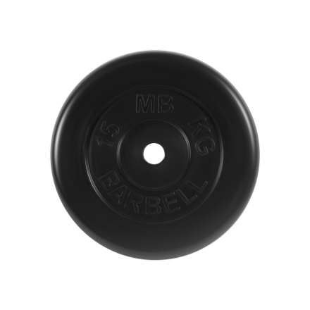 BARBELL Диск обрезиненный 15 кг,26мм. MB-PltB-15 - 1