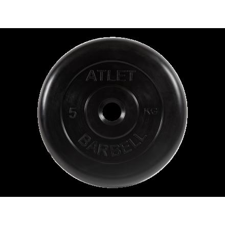 BARBELL Диск обрезиненный 5 кг, 31мм. Atlet MB-AtletB-5 - 1