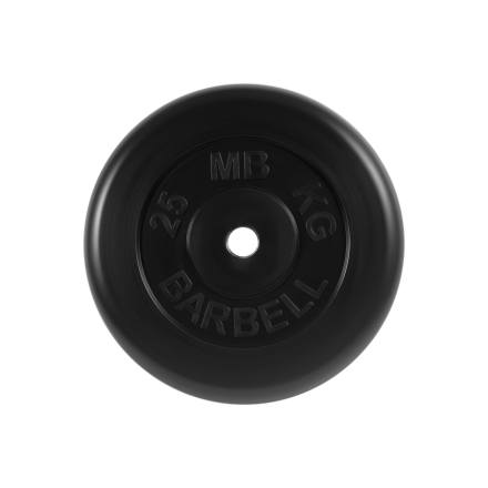 BARBELL Диск обрезиненный 25 кг, 31мм. MB-PltB-25 - 1