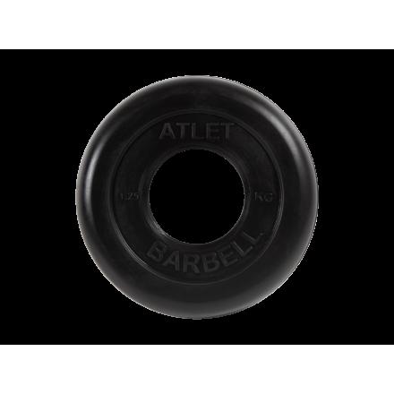 BARBELL Диск обрезиненный 1,25 кг, 51мм. Atlet MB-AtletB-1,25 - 1