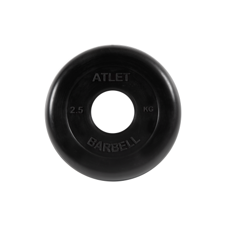 BARBELL Диск обрезиненный 2,5 кг, 51 мм. Atlet MB-AtletB-2,5 - 1