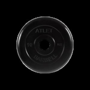 BARBELL Диск обрезиненный 10 кг, 51 мм. Atlet MB-AtletB-10 - 10