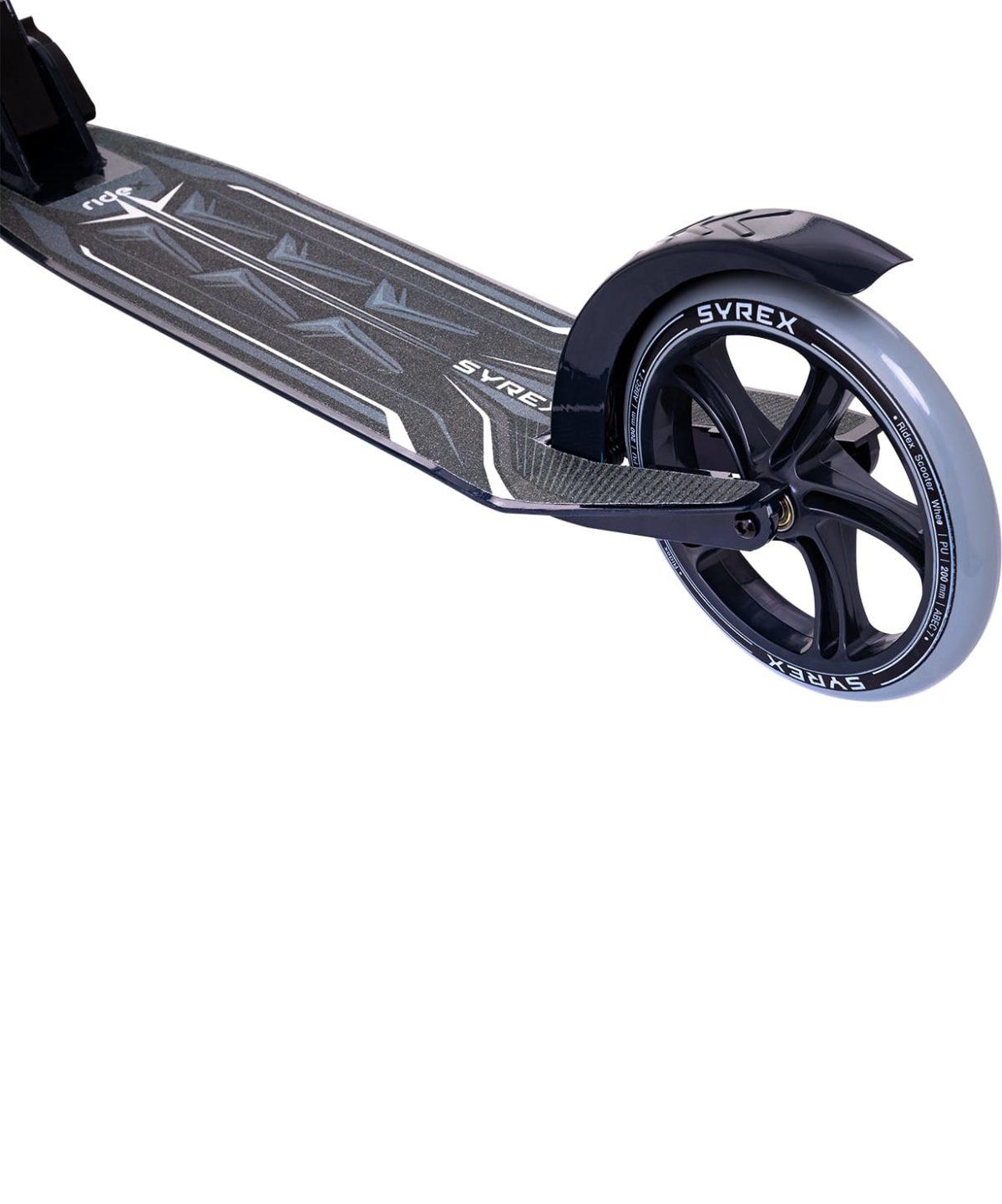 RIDEX Syrex Самокат 2-колесный  230/200 мм  Syrex: чёрный - 5