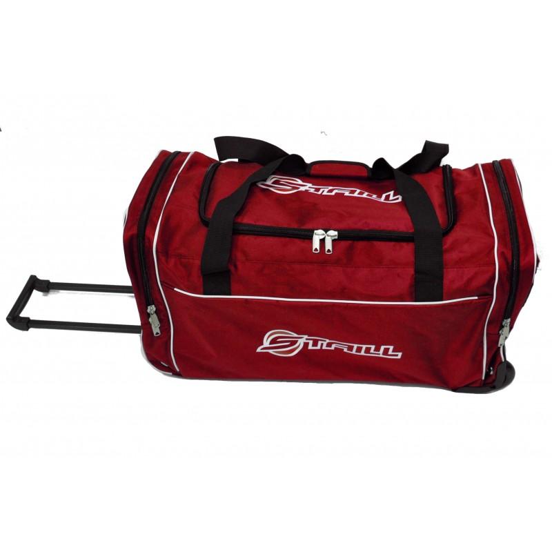 "STAILL Баул-сумка 28"" PRO на колесах два кармана  28-HK-1680: красный - 2"