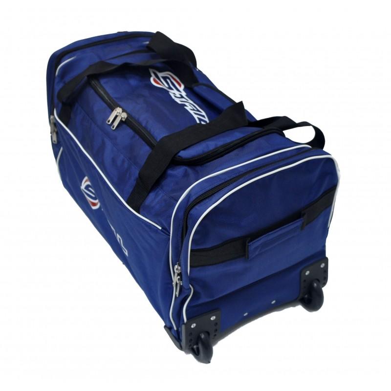 "STAILL Баул-сумка 28"" PRO на колесах два кармана  28-HK-1680: синий - 3"