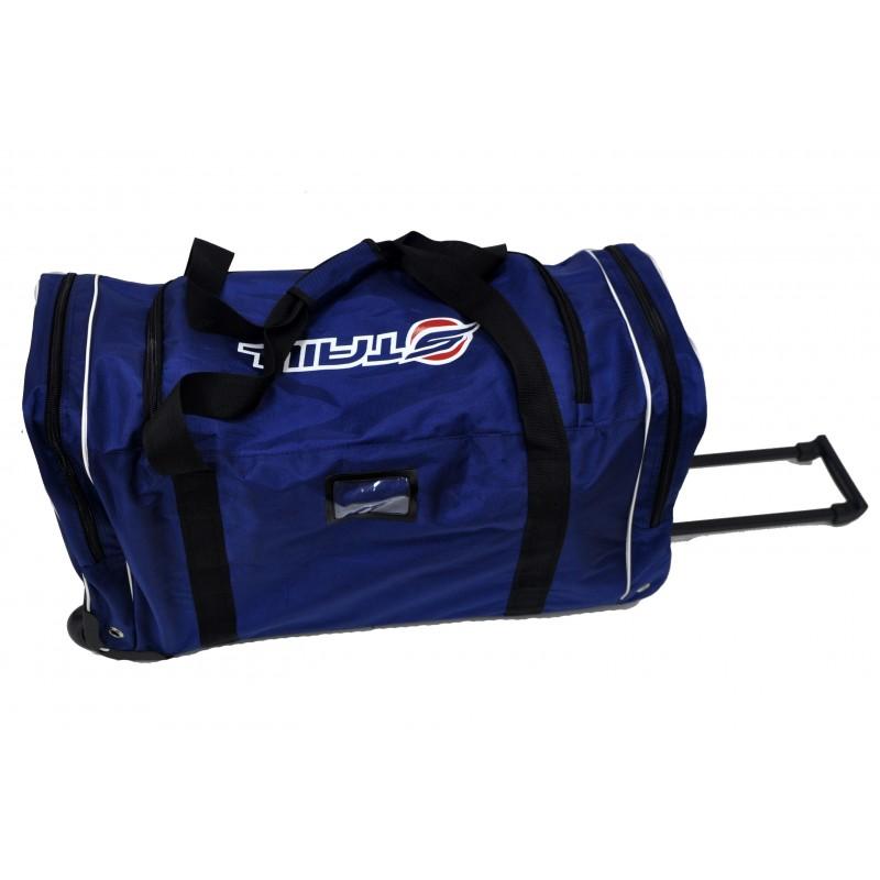 "STAILL Баул-сумка 28"" PRO на колесах два кармана  28-HK-1680: синий - 4"