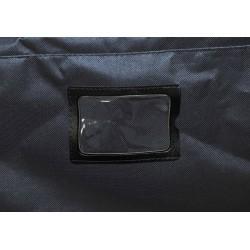 "STAILL Баул-сумка 28"" PRO на колесах два кармана  28-HK-1680: чёрный - 5"