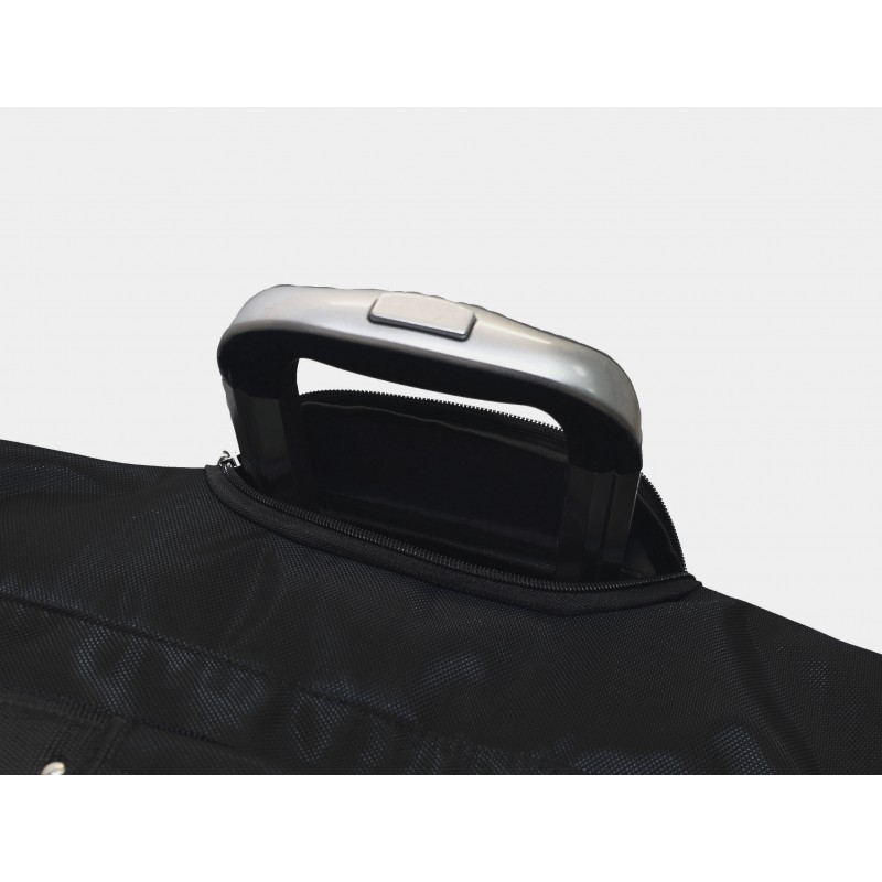 "STAILL Баул-сумка 34"" на колесах один карман  34-HK-1680: чёрный - 5"