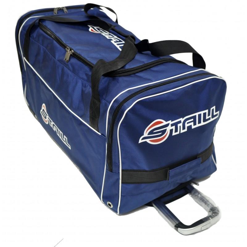 "STAILL Баул-сумка 34"" PRO на колесах два кармана  34-HK-1680: синий - 1"