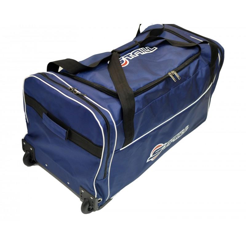 "STAILL Баул-сумка 34"" PRO на колесах два кармана  34-HK-1680: синий - 3"