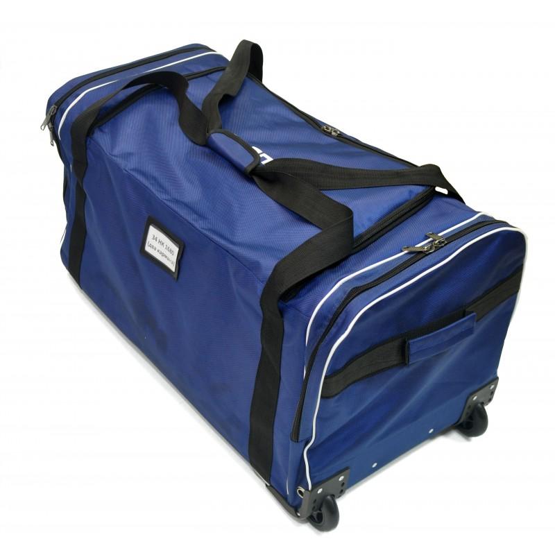 "STAILL Баул-сумка 34"" PRO на колесах два кармана  34-HK-1680: синий - 4"