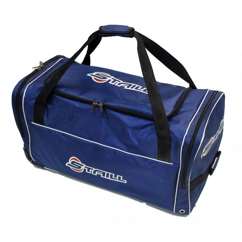 "STAILL Баул-сумка 34"" PRO на колесах два кармана  34-HK-1680: синий - 6"