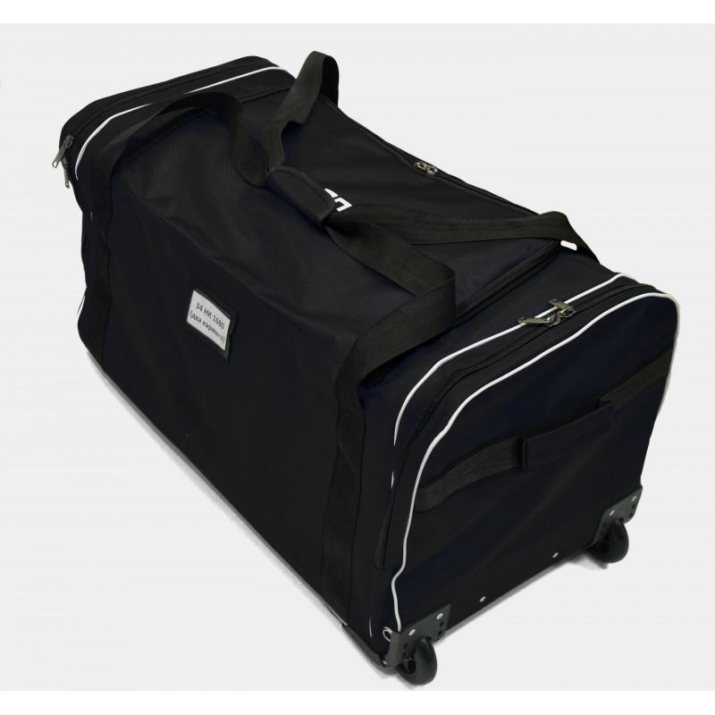 "STAILL Баул-сумка 34"" PRO на колесах два кармана  34-HK-1680: чёрный - 3"