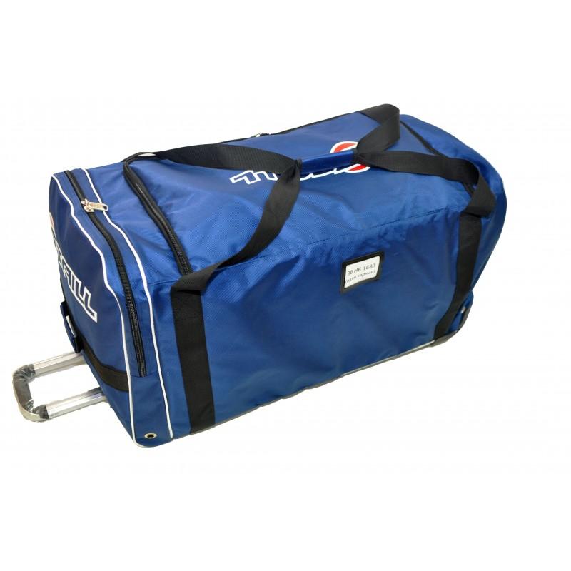 "STAILL Баул-сумка  36"" на колесах один карман  36-HK-1680: синий - 4"
