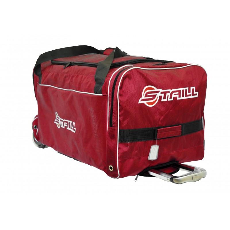 "STAILL Баул-сумка 36"" PRO на колесах два кармана  36-HK-1680: красный - 1"