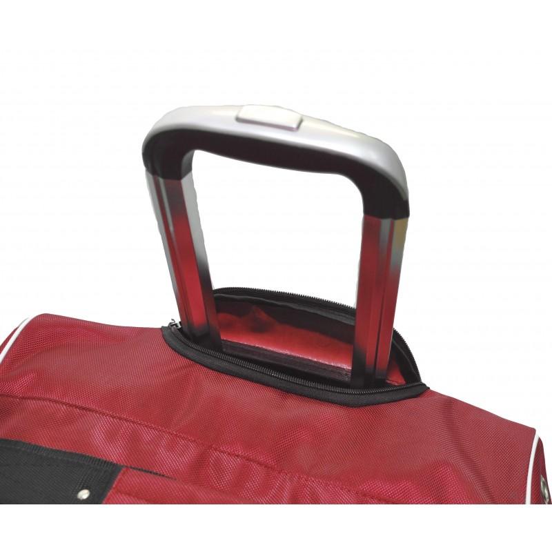 "STAILL Баул-сумка 36"" PRO на колесах два кармана  36-HK-1680: красный - 6"