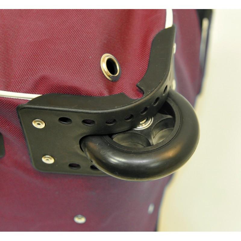 "STAILL Баул-сумка 36"" PRO на колесах два кармана  36-HK-1680: красный - 7"