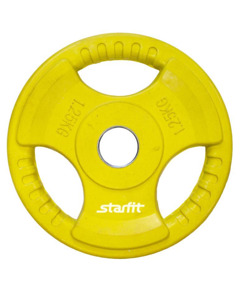 STARFIT Диск обрезиненный d-26мм 1,25кг BB-201 - 1