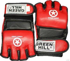 GREEN HILL Перчатки для MMA Combat Sambo  MMR-0027CS: красный - 8