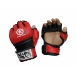 GREEN HILL Перчатки для MMA Combat Sambo  MMR-0027CS: красный - 2