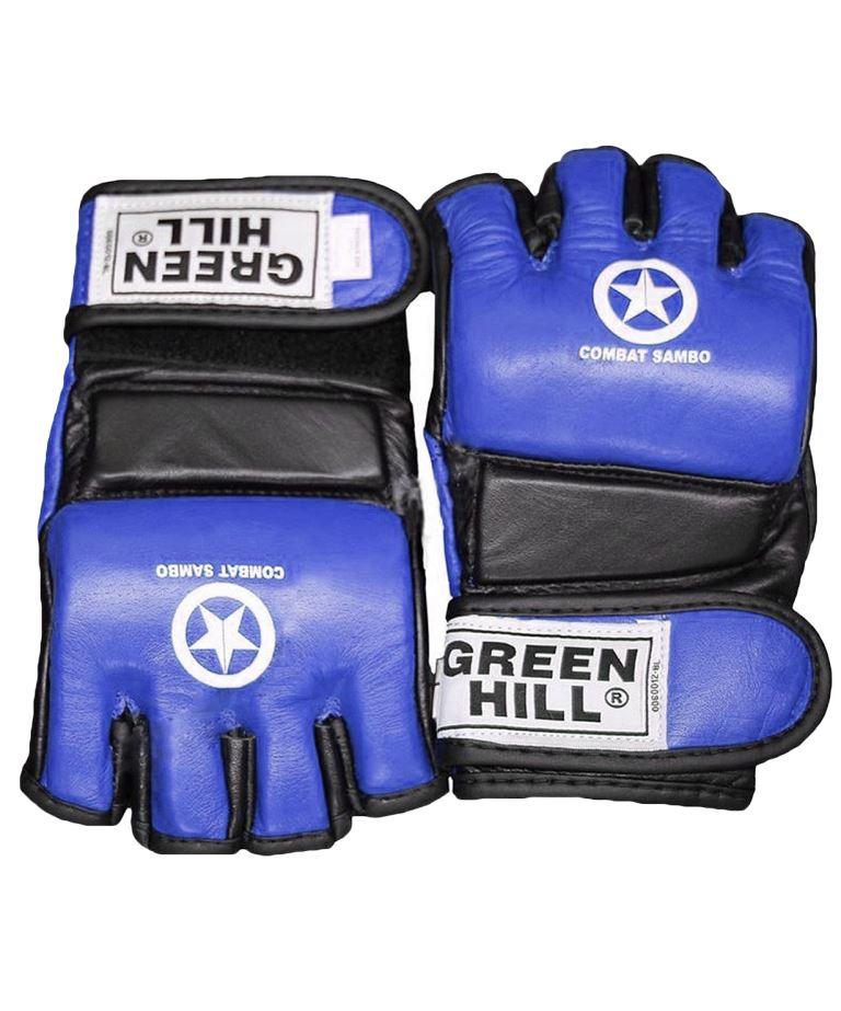 GREEN HILL Перчатки для MMA Combat Sambo  MMR-0027CS: синий - 1