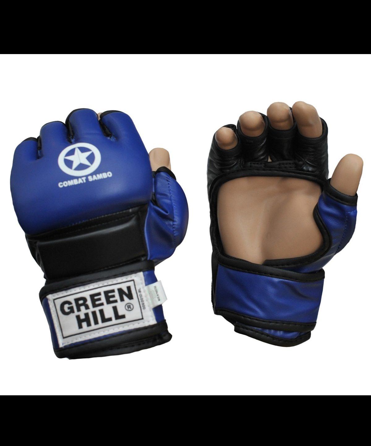 GREEN HILL Перчатки для MMA Combat Sambo  MMR-0027CS: синий - 2