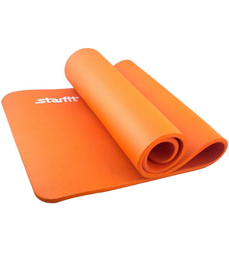STARFIT Коврик для йоги FM-301 183х58х1,5 см: оранжевый - 1
