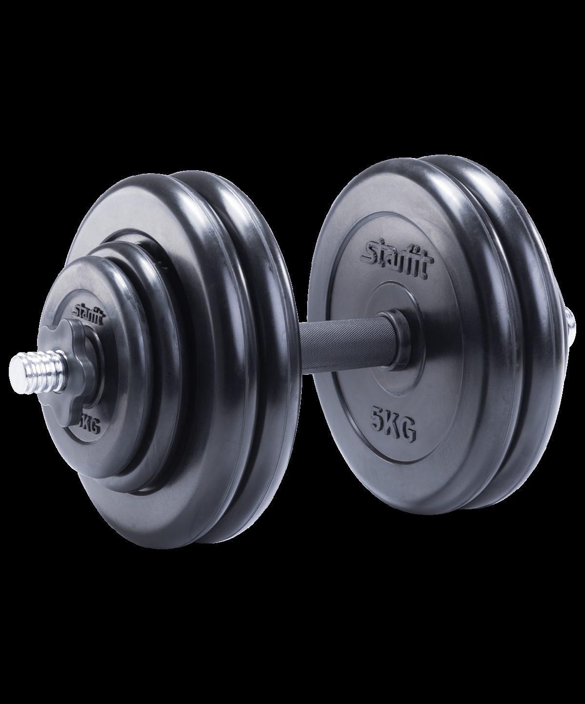 STARFIT гантель разборная обрезиненная 25,5 кг. - 1