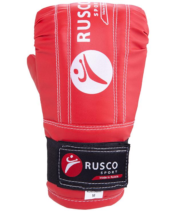 RUSCO Перчатки снарядные, кожзам 142: красный - 3