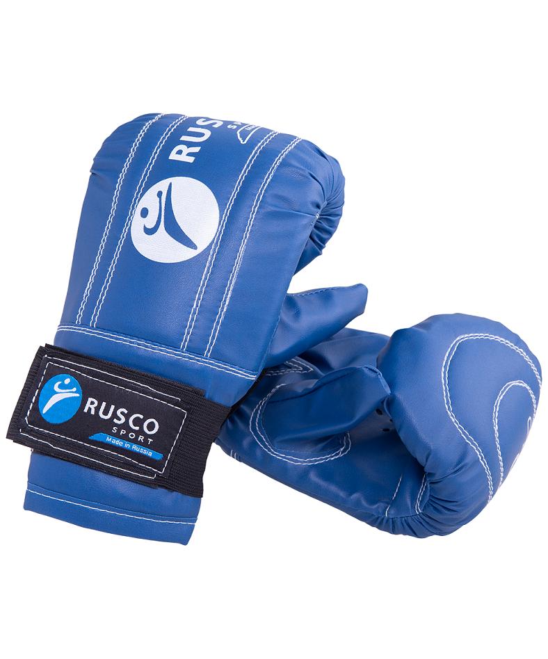 RUSCO Перчатки снарядные, кожзам 142: синий - 1