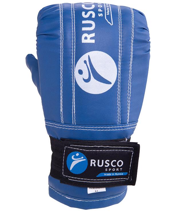 RUSCO Перчатки снарядные, кожзам 142: синий - 4